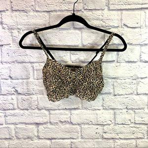 PINK Victoria Secret Leopard Lace Bralette